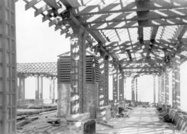 [Portion of roof garden of second Hotel Vancouver under construction]