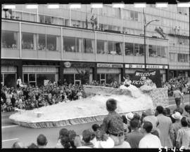 City of Victoria float in 1959 P.N.E. Opening Day Parade