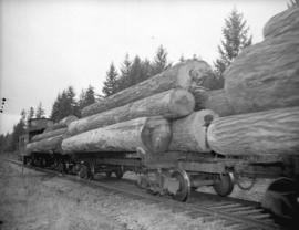 Log train on Vancouver Island