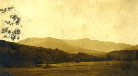 [View of field and mountains, Burlington, Massachussetts]