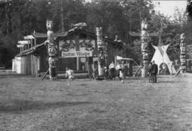 Indian village at back of Lumberman's Arch, Golden Jubilee