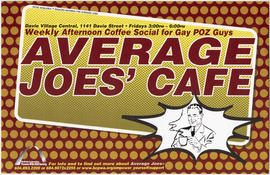 Average Joes' Café : weekly afternoon coffee social for gay poz guys : Davie Village Central : Br...
