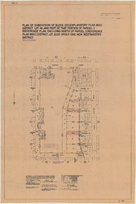 Plan of subdivision of block 120 (explanatory plan 8011), district lot 181