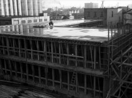 Construction of new office building: framing and roof