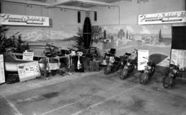 Homewood and Dalgleish display of motorcycles and outboard motors