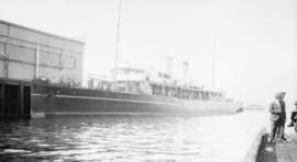 [Steamship at dock]