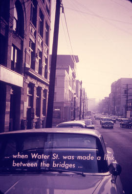 When Water Street was made a link between the bridges