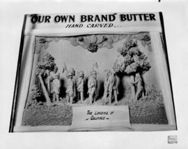 The landing of Columbus : [Central Creameries butter carving]