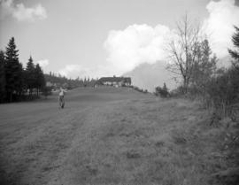 [Man playing golf on the Capilano Golf Course]