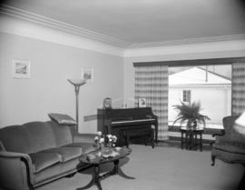 [Interior view of a house showing the living room]