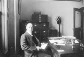Robert Steele at the Giant Powder Company office in Vancouver, B.C.