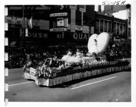 City of Burnaby float in 1956 P.N.E. Opening Day Parade