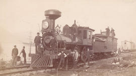 [C.P.R. construction engine between Gore and Dunlevy Avenues]