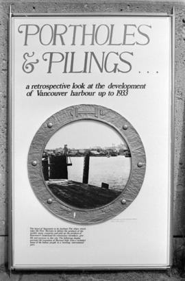 Porthole Motif for City of Vancouver's Archival Exhibition; Portholes and Pilings