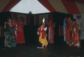 Children performing during the Centennial Commission's Canada Day celebrations