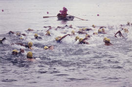Swimmers during Vancouver Centennial Triathlon