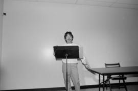 Jim Wong Chu reading at the Chinese Cultural Centre