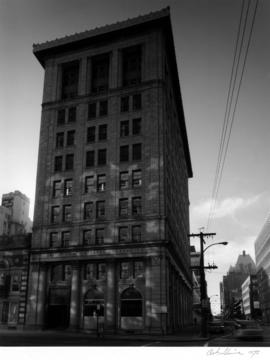 Credit Foncier Building, 850 West Hastings Street, northeast facade