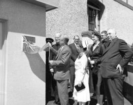 [The Honourable Eric Martin unveils a commemorative plaque for the opening of the new wing at Gra...