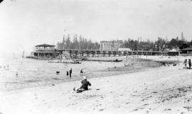 Pleasure Pier and diving float at English Bay