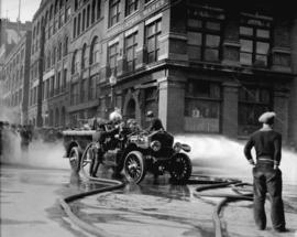 Fire at A.P. Slade's warehouse [157 Water Street]