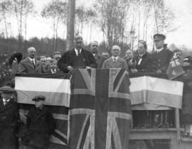 [Opening ceremony for the first Second Narrows Bridge]