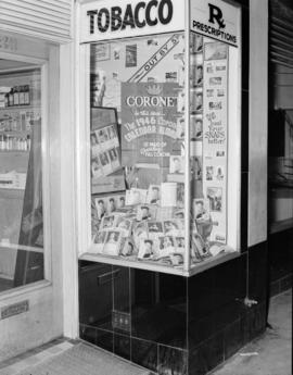 [Coronet magazine window display]