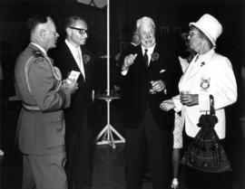 1966 Derby Day brunch : [J. Diamond, Lieutenant Governor G.R. Pearkes and Pearl Steen]