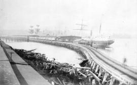 [Looking west along the C.P.R. Wharf]