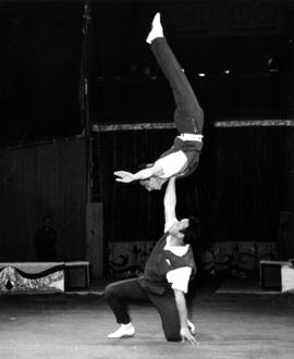 Acrobalance act in Moscow Circus performance