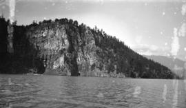 Castle rocks, four miles from Saint Alice Hotel, Harrison Lake