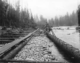 [Repairing water pipes after the Seymour Creek washout]
