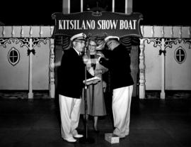 Mrs. Alsbury receiving a ribbon at the Kitsilano Showboat