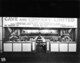 Cave and Co. display of laboratory supplies
