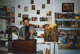 Paul Yee at launch for Ghost Train at Another Story Bookstore, Toronto