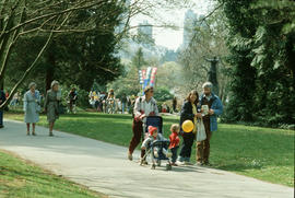 People in Stanley Park during Centennial event