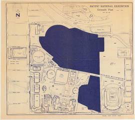 Pacific National Exhibition grounds plan