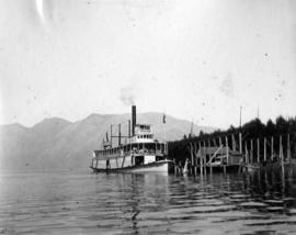 "[S.S. ""Rothsay"" at Mannion's brickyard, Deep Cove, Bowen Island]"
