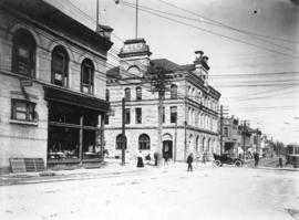 [Pender Street at Granville Street, showing Post Office]