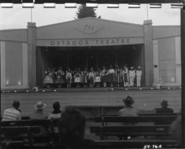 Children performing on Outdoor Theatre stage