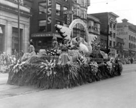B.C. Telephone Co. float in 1949 P.N.E. Opening Day Parade