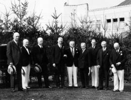 Vancouver Exhibition executives and Premier T.D. Pattullo at opening of Canada Pacific Exhibition