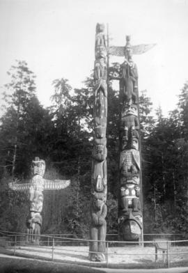 Totem poles at Lumberman's Arch