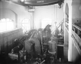 [Interior of partially constructed generator room for Buntzen Lake Power Plant number two]