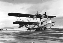 Flying boat stationed at Jericho