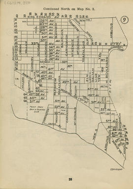 Sectional map and street directory of Vancouver : [West Boulevard to King Edward Avenue to Bounda...
