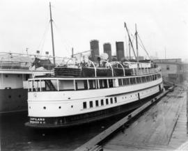 "[Steamer ""Capilano"" (II) at Union Dock - Port side view]"