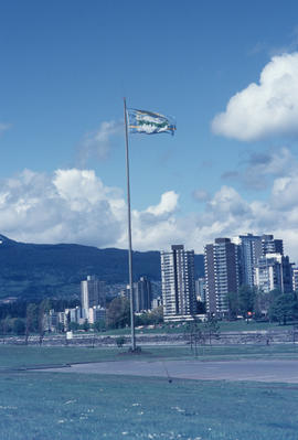 Centennial flag at Vanier Park
