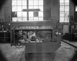 "[A "" Lawrence"" model 10-10 machine]"