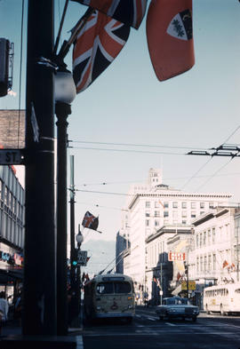 [Looking north on Granville Street from the Pender Street]